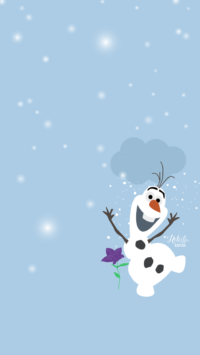 Olaf Life Wallpaper iPhone