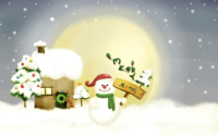 Snowman Christmas HD Wallpaper