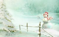 Snowman Desktop HD Wallpaper