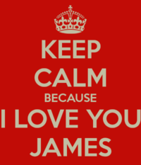 Keep Calm James Wallpaper