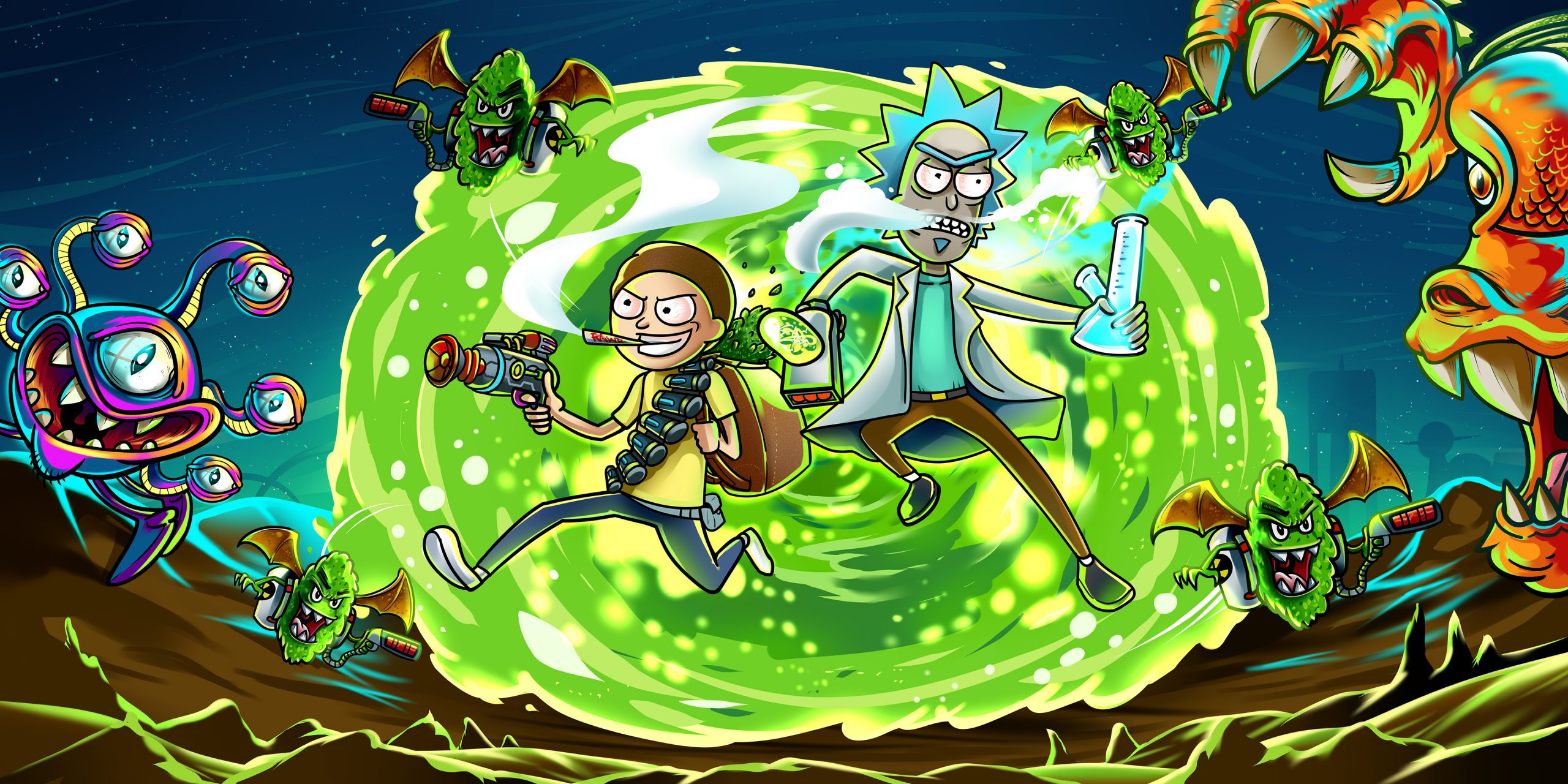 Rick and Morty 4K Wallpaper - KoLPaPer - Awesome Free HD Wallpapers