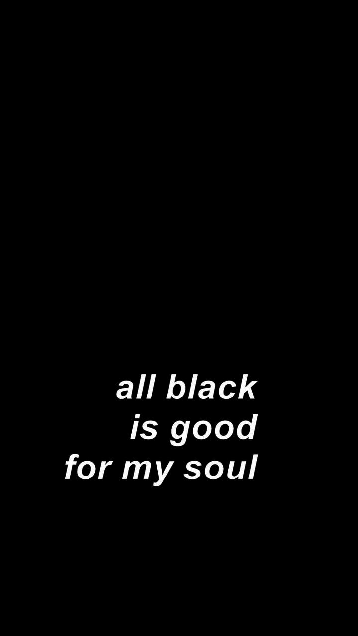 All Black Wallpaper