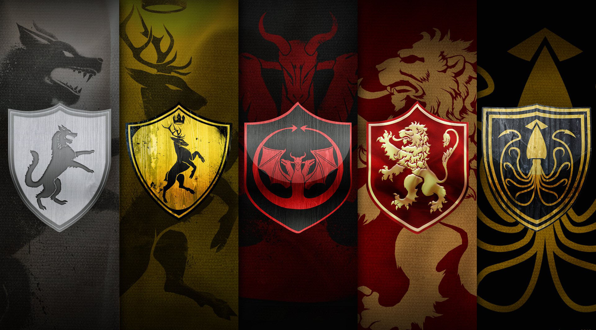 Game Of Thrones 5 Clans Wallpaper