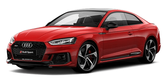 Red Audi Transparent Wallpaper