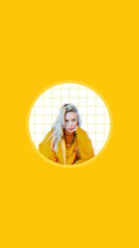 Yellow Billie Eilish Wallpaper