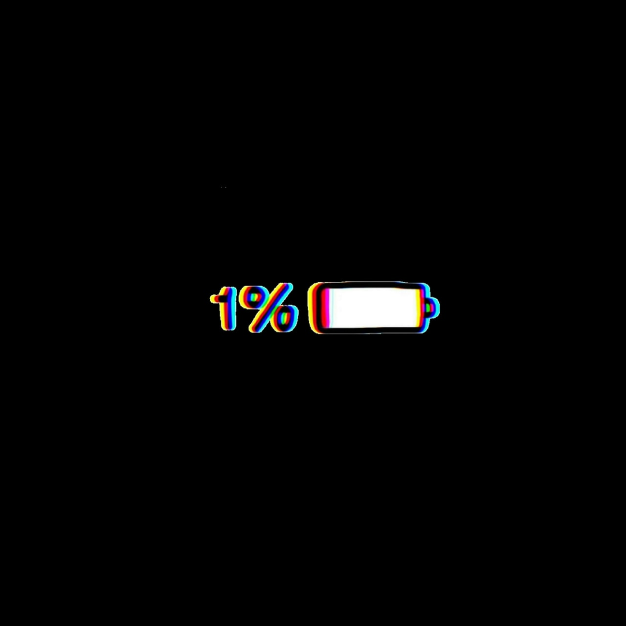 glitch battery wallpaper