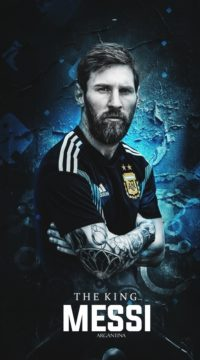 The King Messi Wallpaper