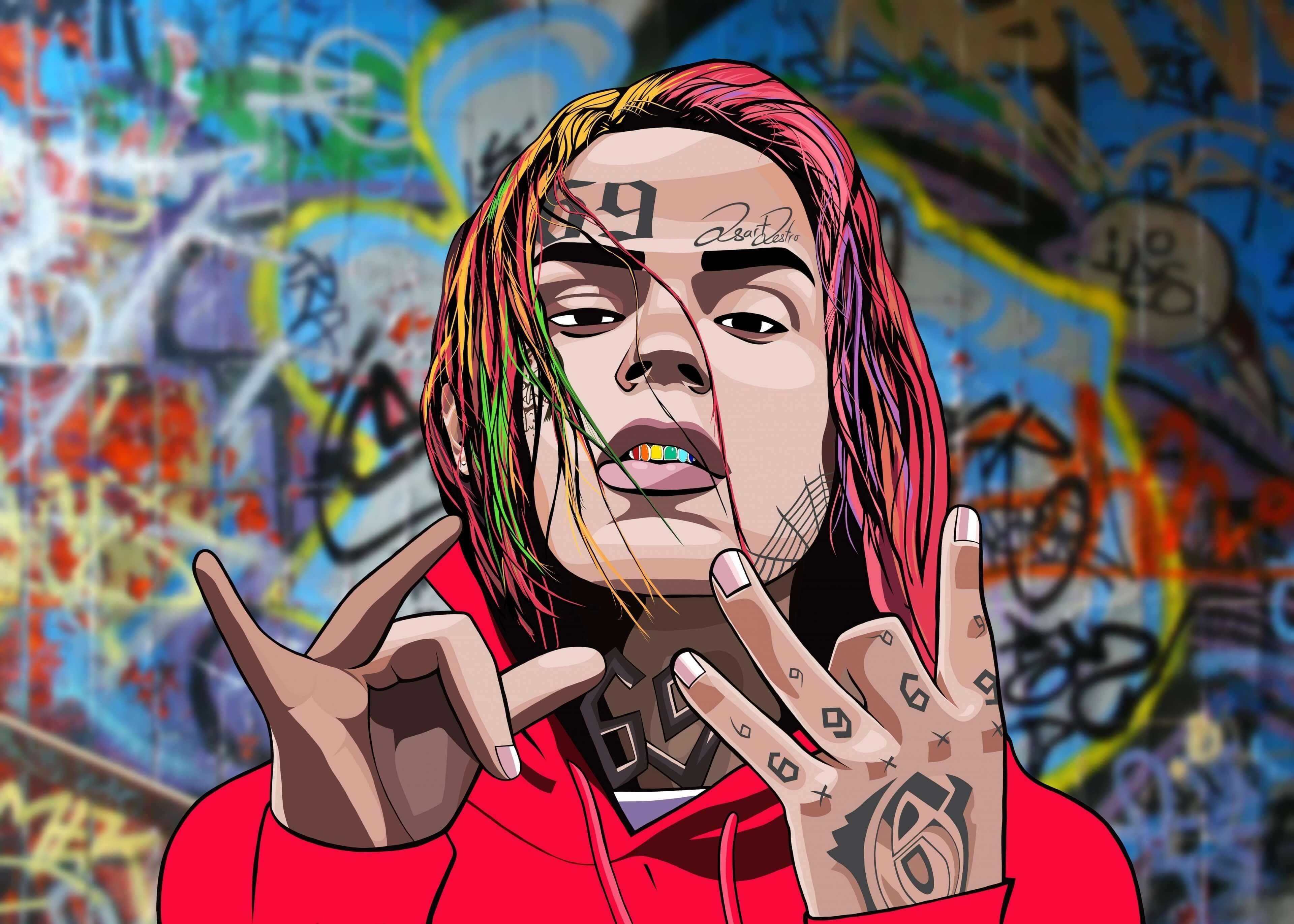 6ix9ine HD Wallpaper