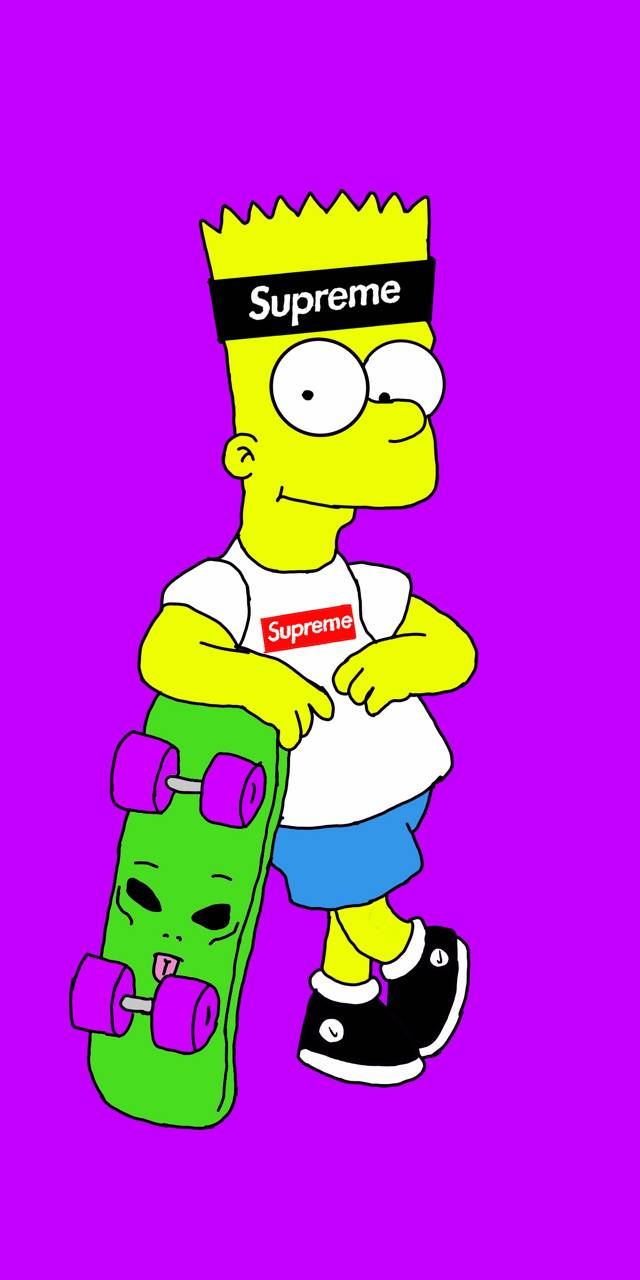 Bart Simpson Thrasher Wallpapers Kolpaper Awesome Free Hd