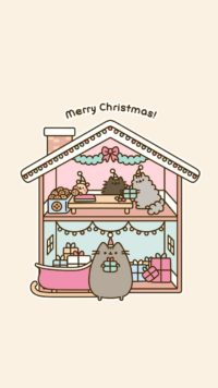 Christmas Pusheen Wallpaper