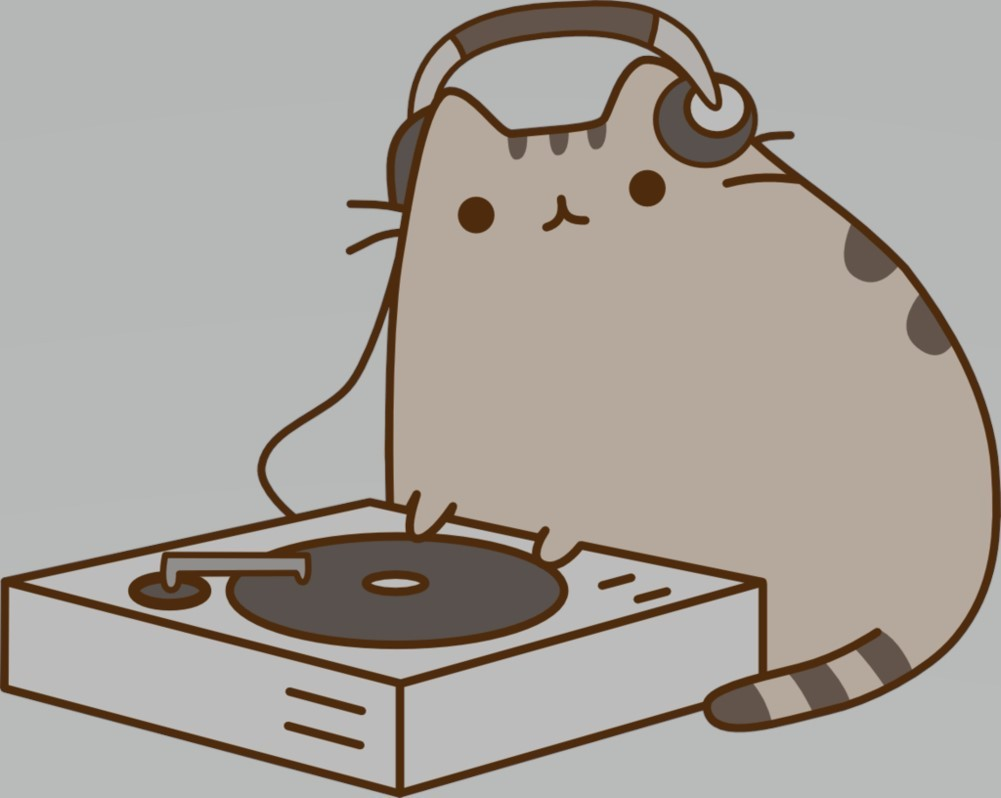 DJ Pusheen Wallpaper