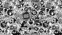 Dark Doodle Wallpaper