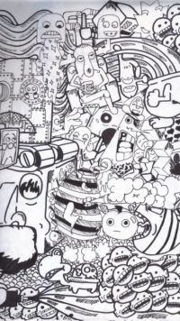 Doodle Black Wallpaper Iphone
