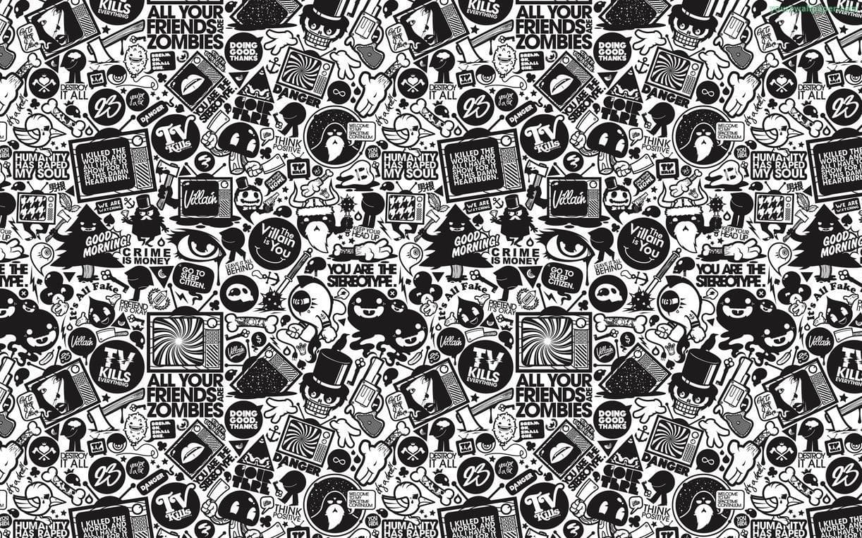 Doodle Black And White Wallpaper Kolpaper Awesome Free Hd Wallpapers