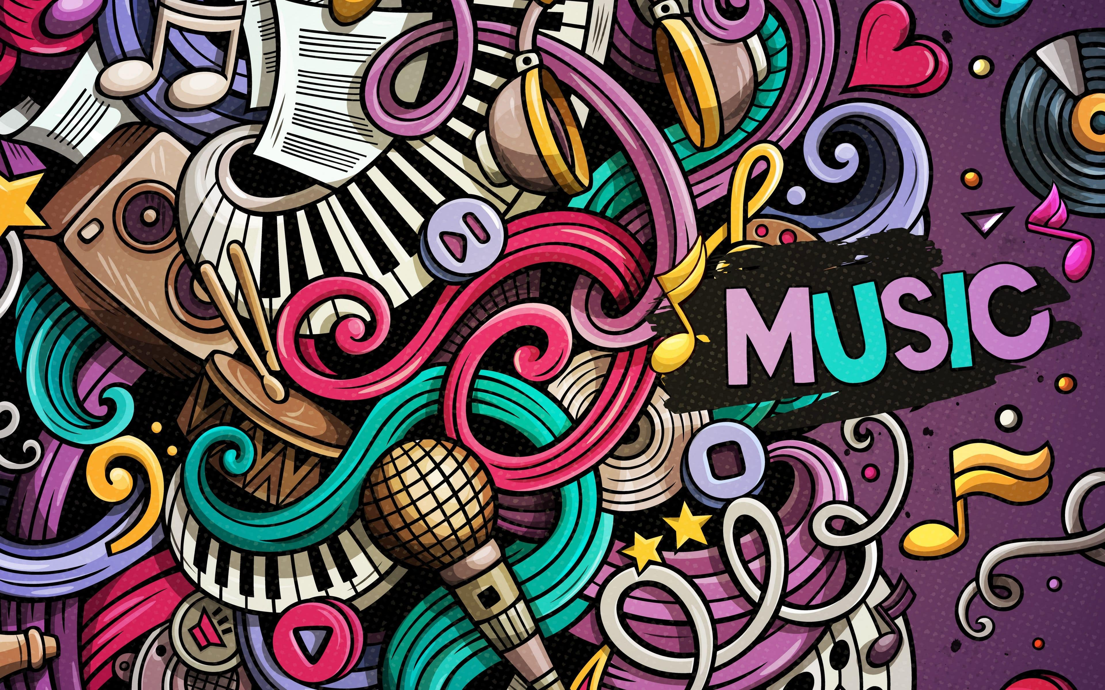 Doodle Music Wallpaper Kolpaper Awesome Free Hd Wallpapers