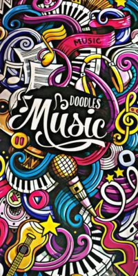 Doodles Music Wallpaper