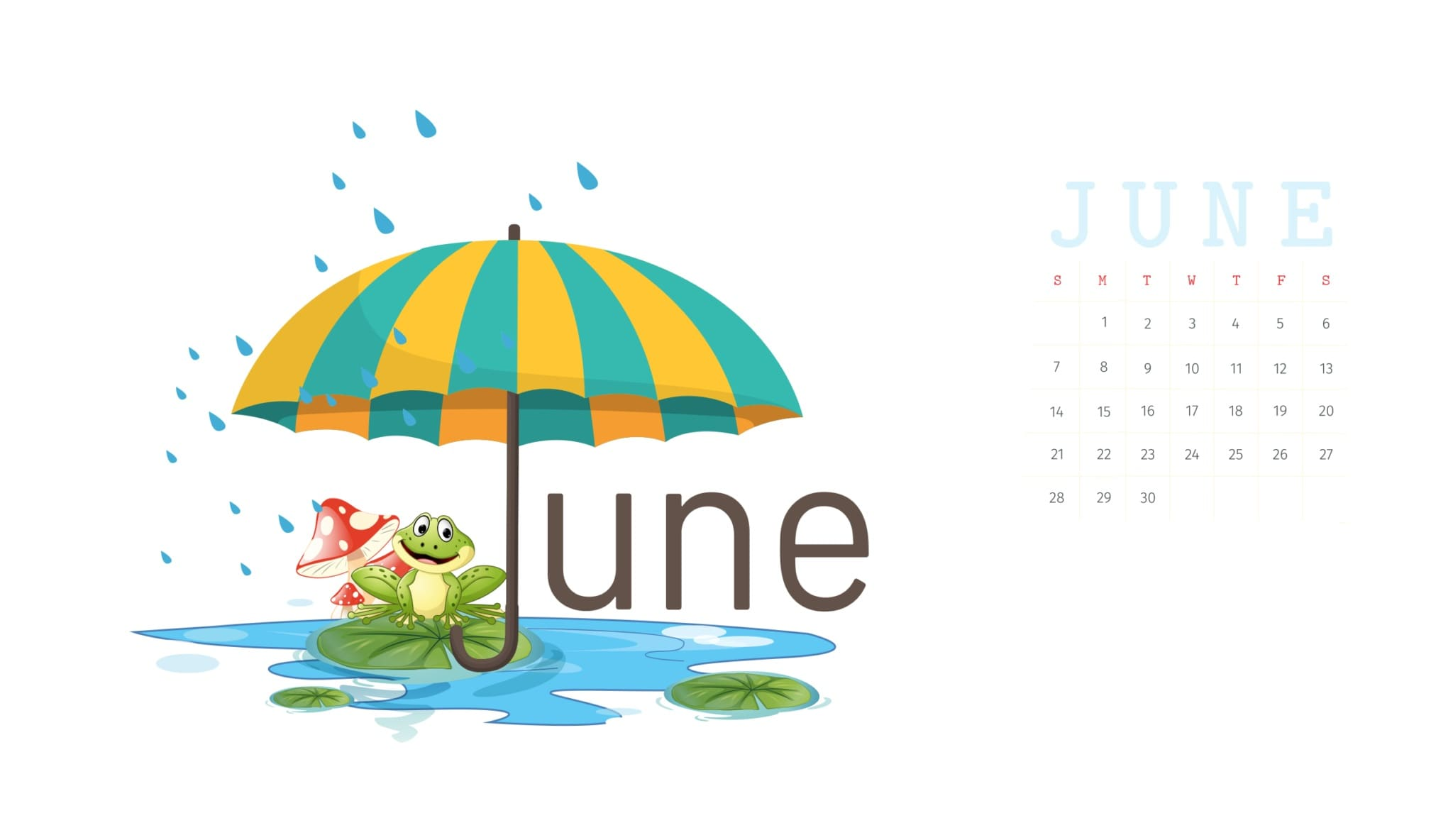 June 2020 Calendar Wallpapers