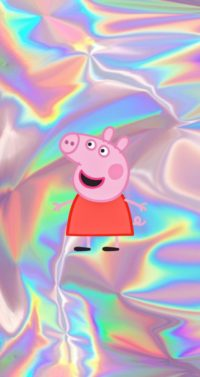 Peppa Pig Holographic Wallpaper
