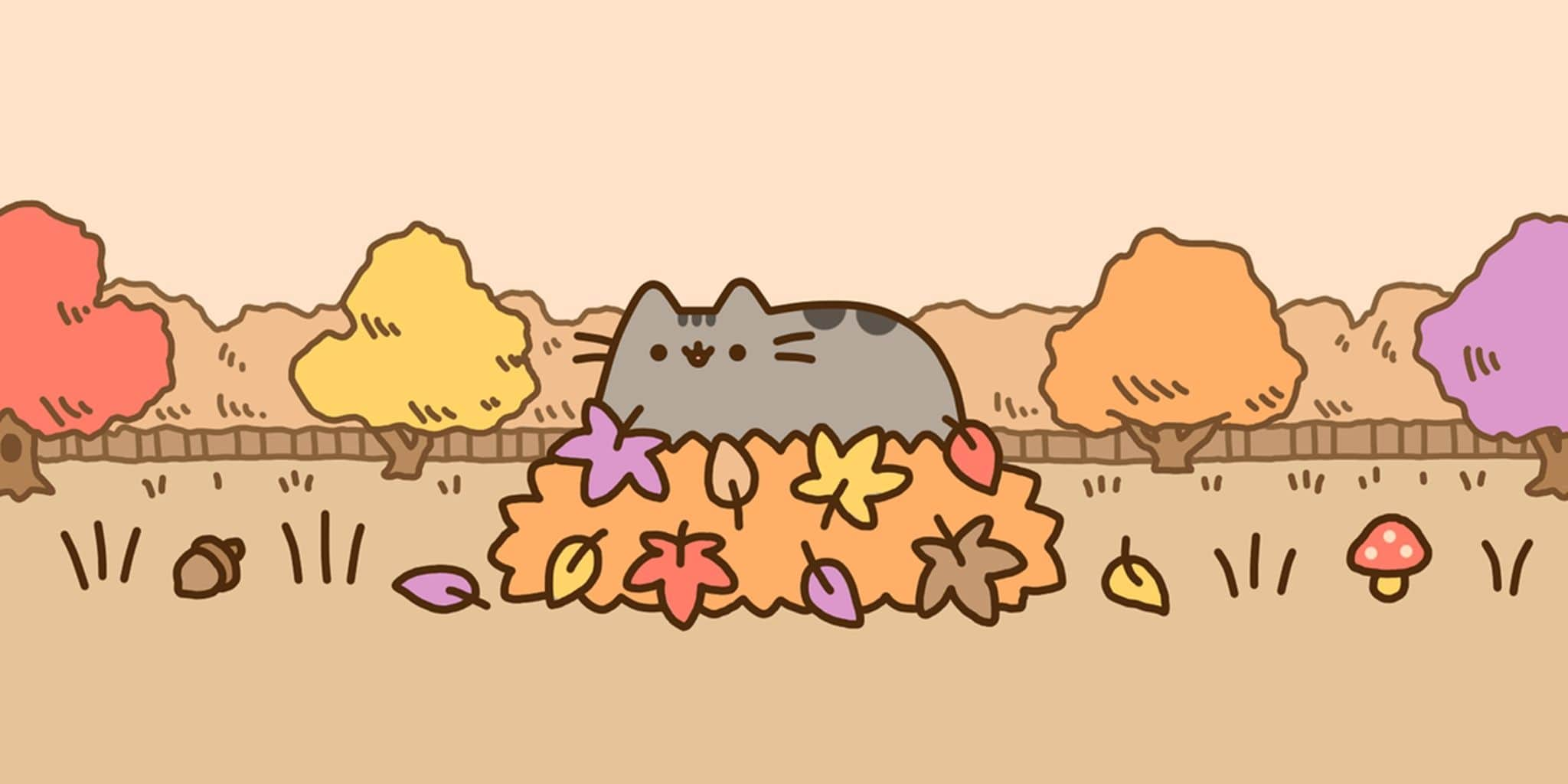 Pusheen Autmn Wallpaper Pc Kolpaper Awesome Free Hd Wallpapers