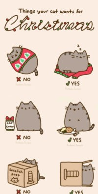 Pusheen Christmas Wallpaper Iphone
