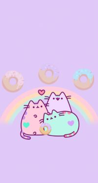 Pusheen Donut Wallpaper