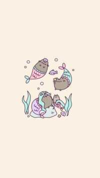 Pusheen Fish Wallpaper