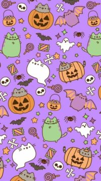 Pusheen Halloween Wallpaper