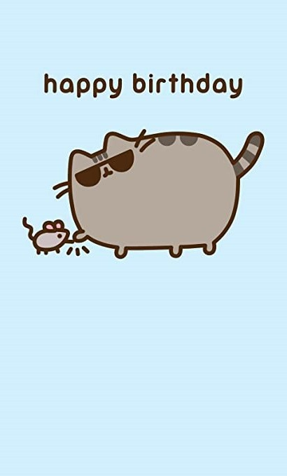 Pusheen Happy Birthday Wallpaper