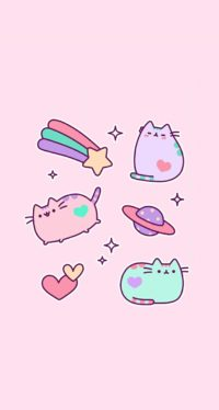 Pusheen Pastel Wallpaper