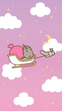 Pusheen Santa Claus Wallpaper