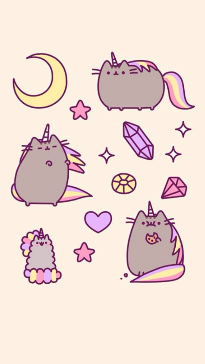 Pusheen Unicorn Wallpaper