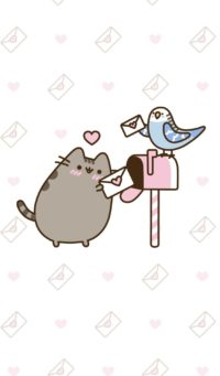 Pusheen Valentines Day Wallpaper