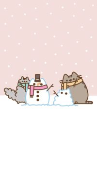 Pusheen Winter Wallpaper
