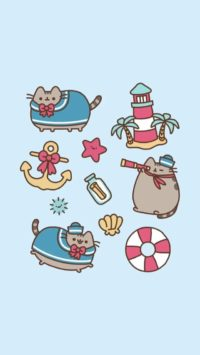 Sailor Pusheen Wallpaper