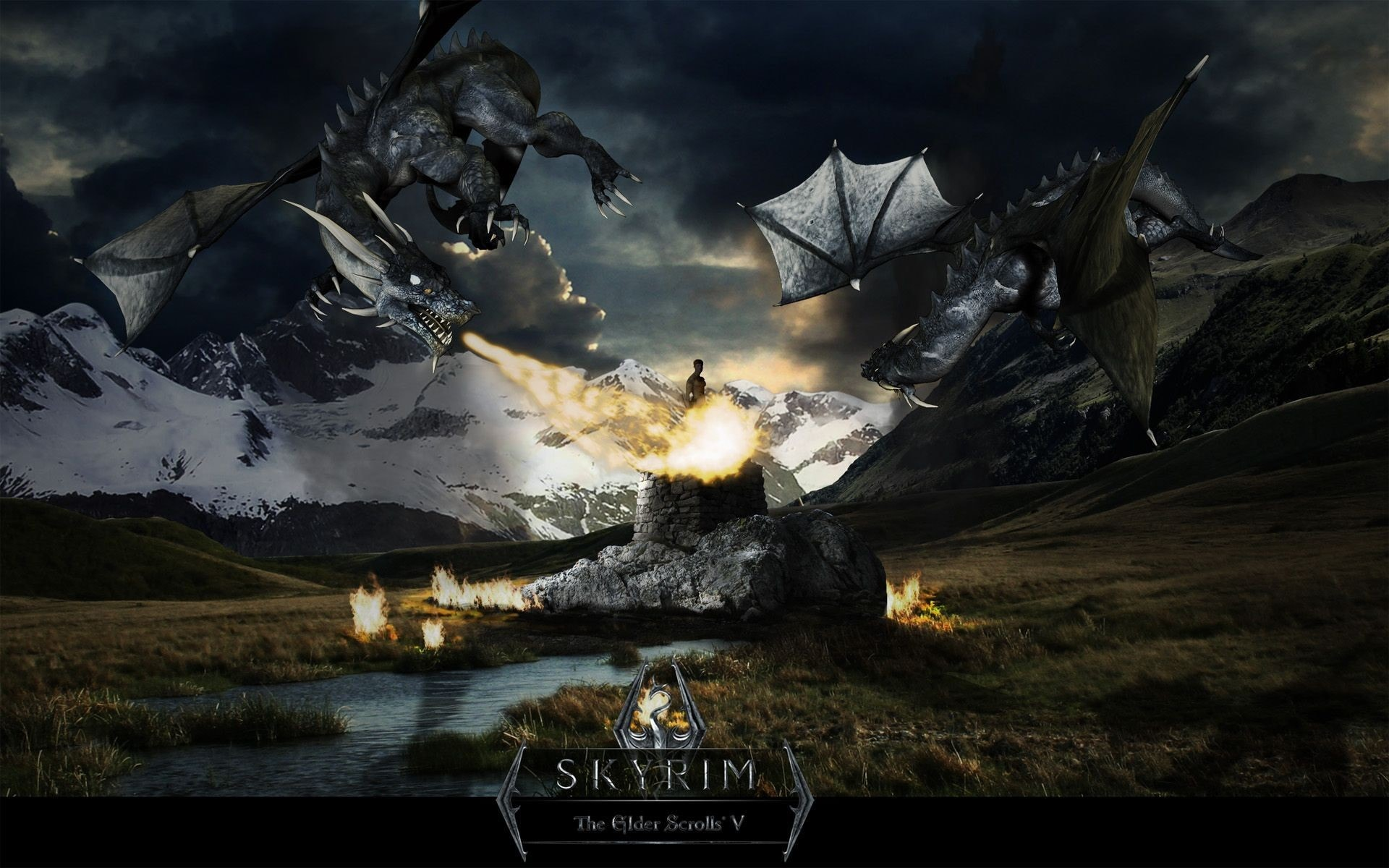 Skyrim Dragon Wallpaper