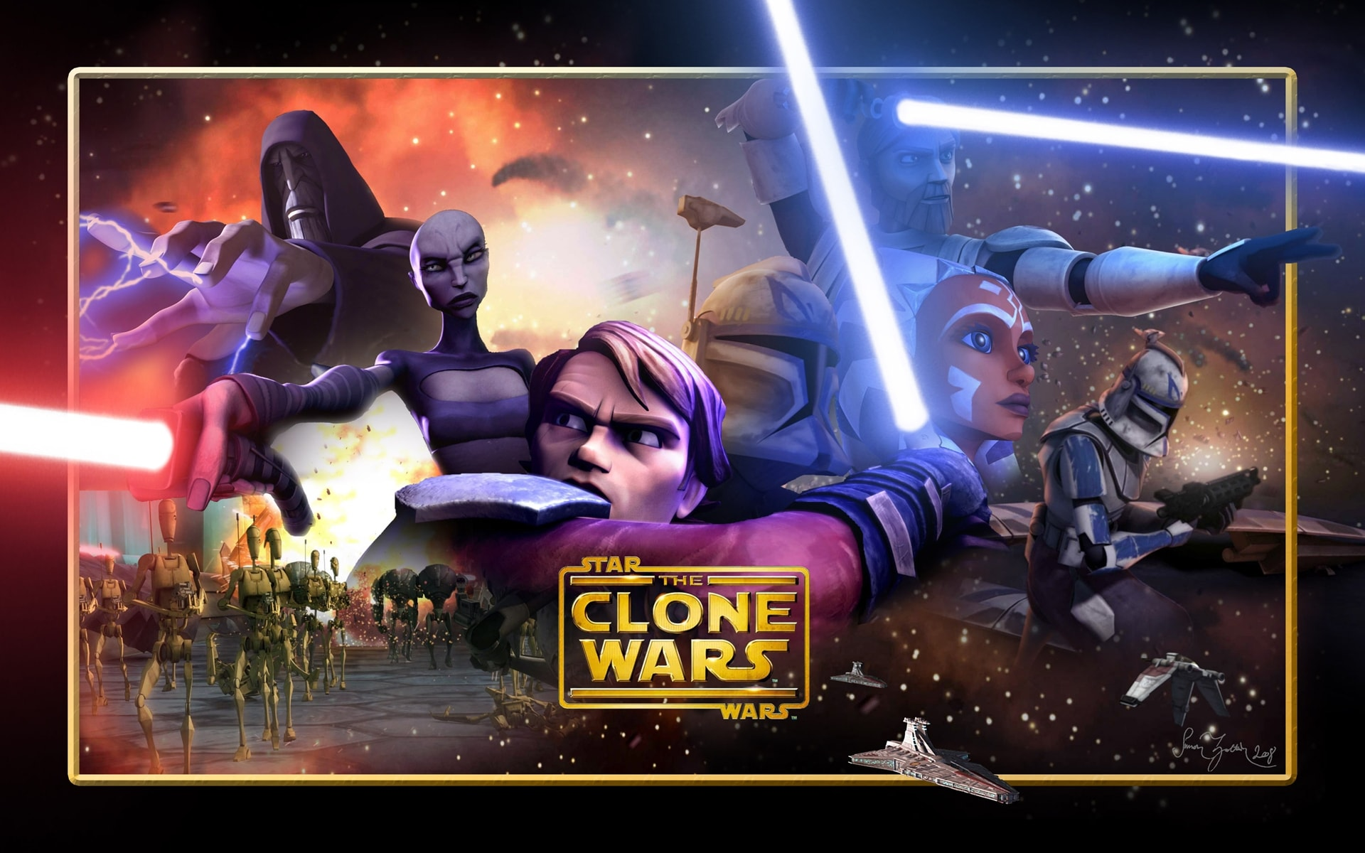 Wallpaper Star Wars Clone Wars