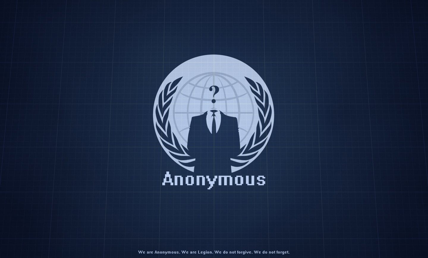 Anonymous Blue Wallpaper