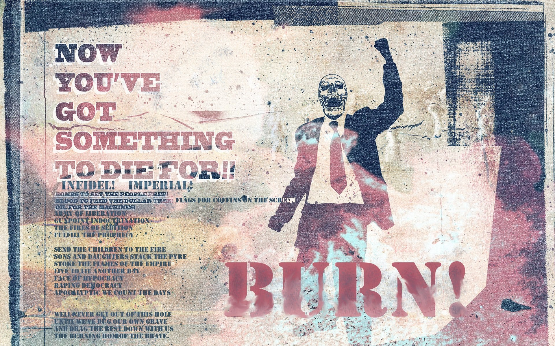 Anonymous Burn Wallpaper