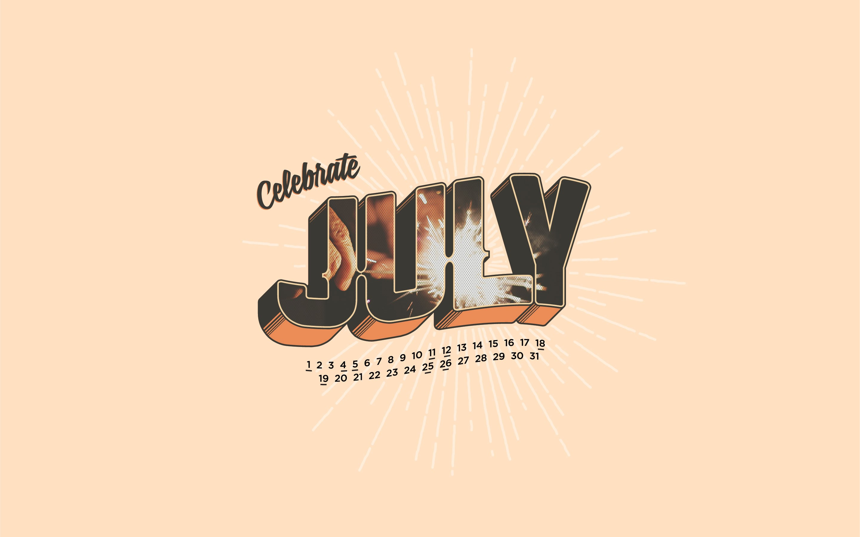 Celebrate July Wallpaper