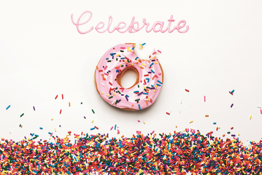 Donut Celebrate Wallpaper
