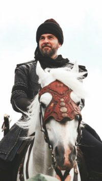 Ertugrul on Horse Iphone