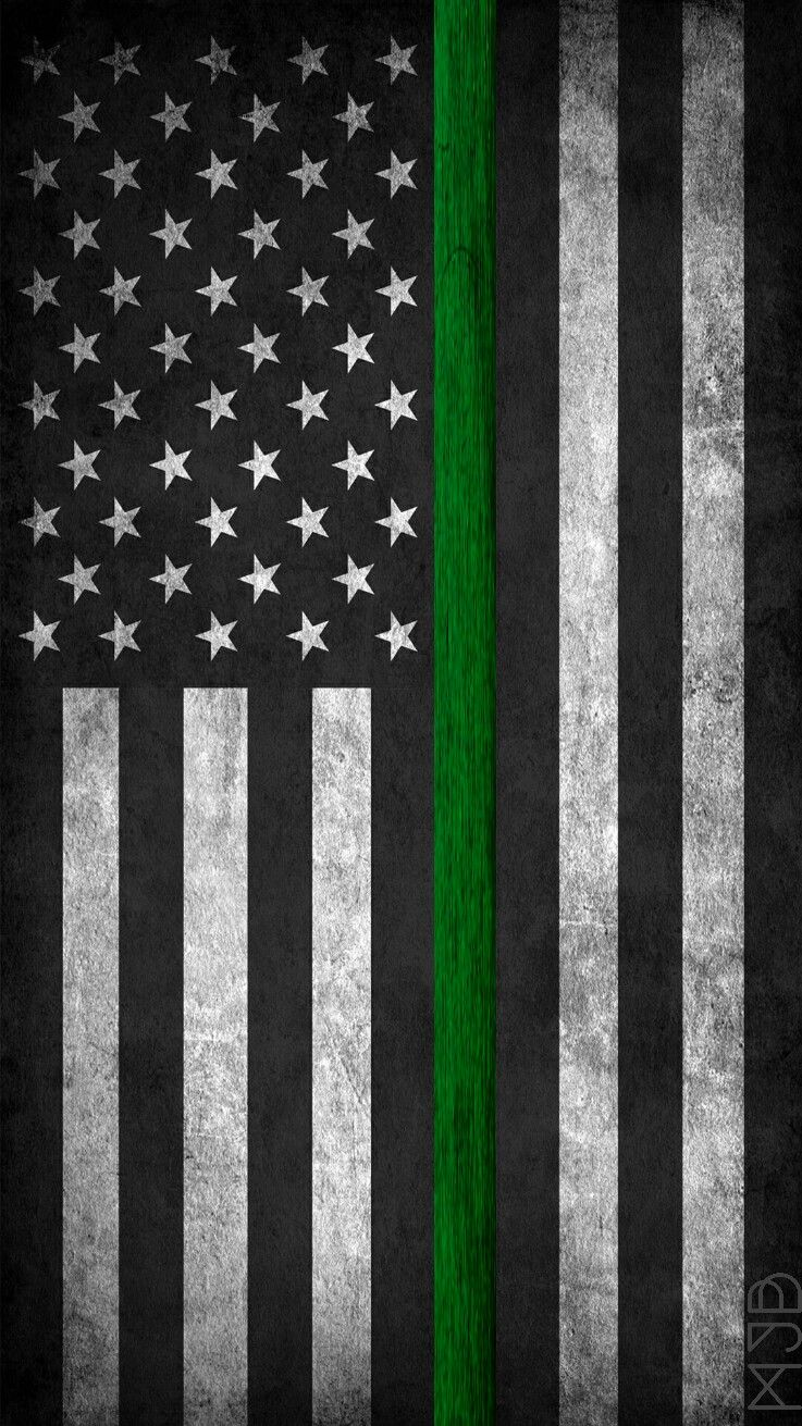 Green Line Flag Wallpaper