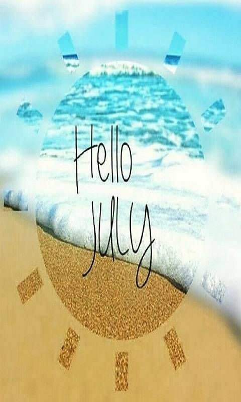Hello July Background 2