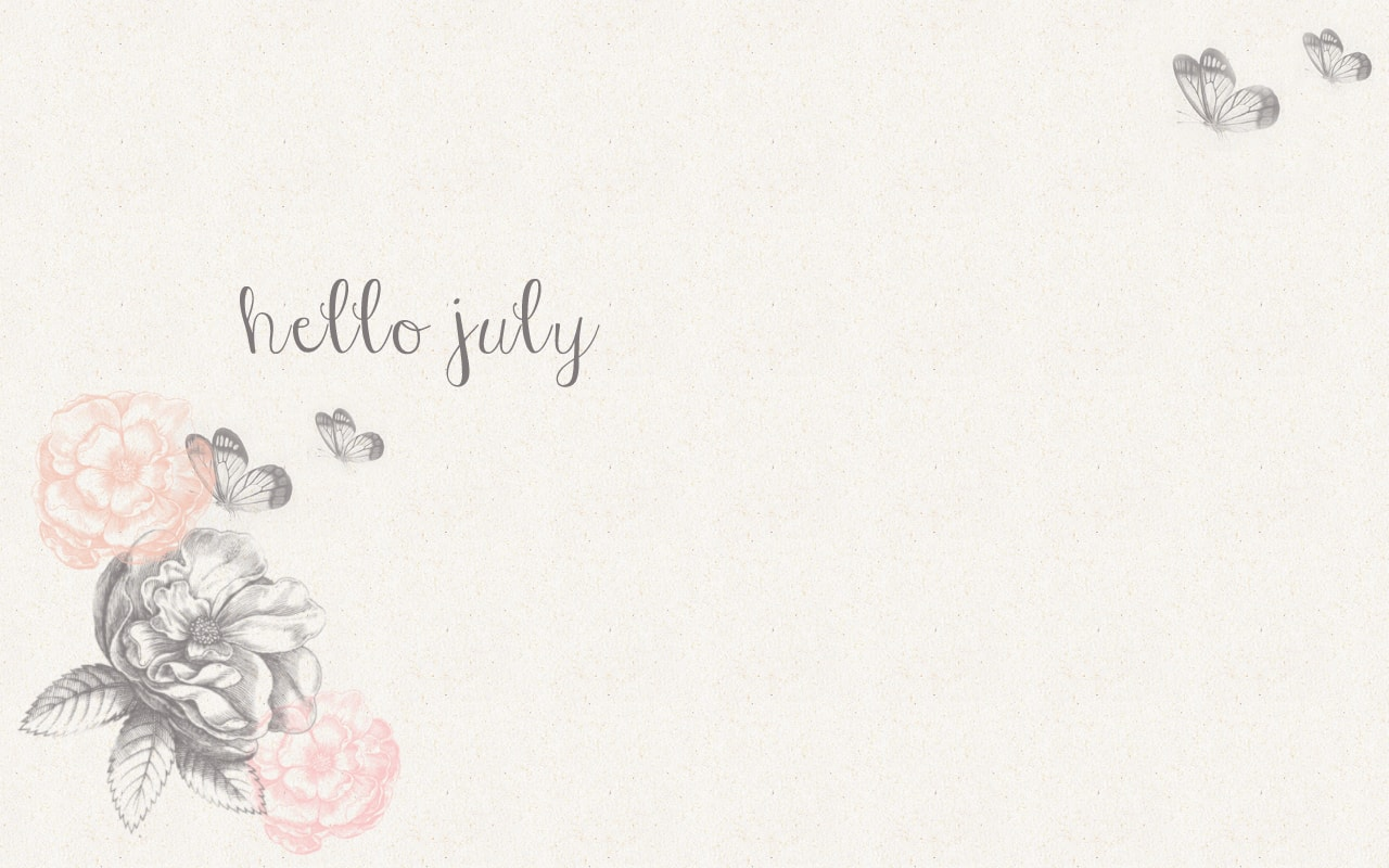 Hello July Desktop Wallpaper