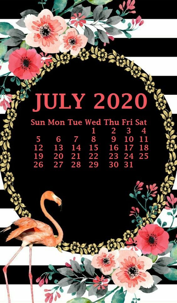 July Calendar Iphone Wallpaper