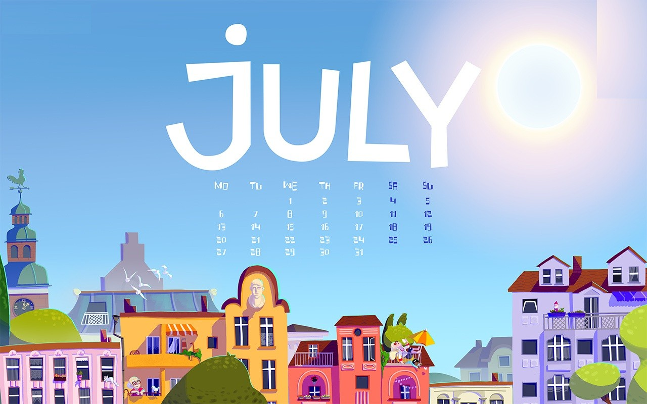 July Calendar Wallpaper 2020