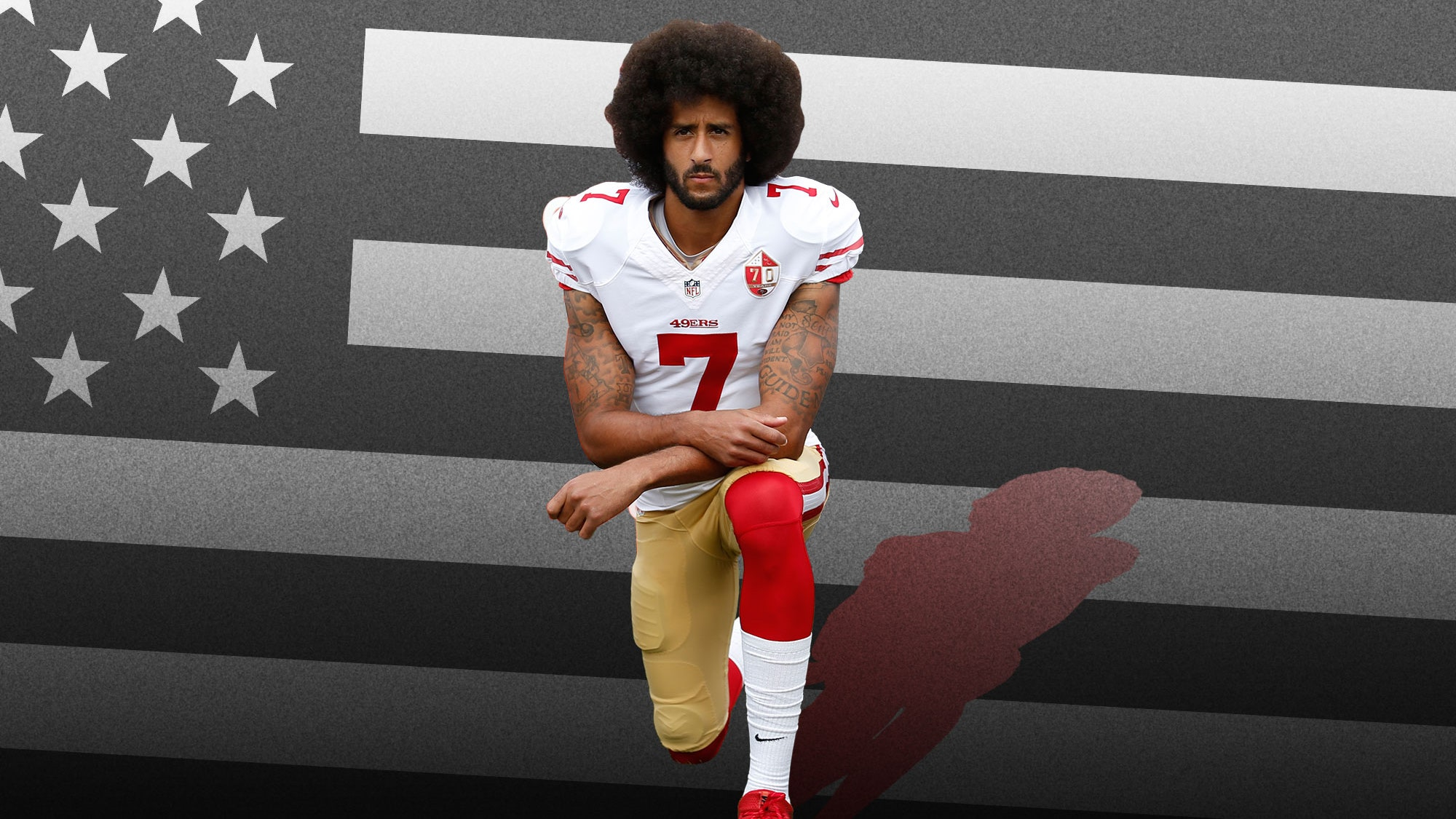 Kaepernick American Flag Wallpaper