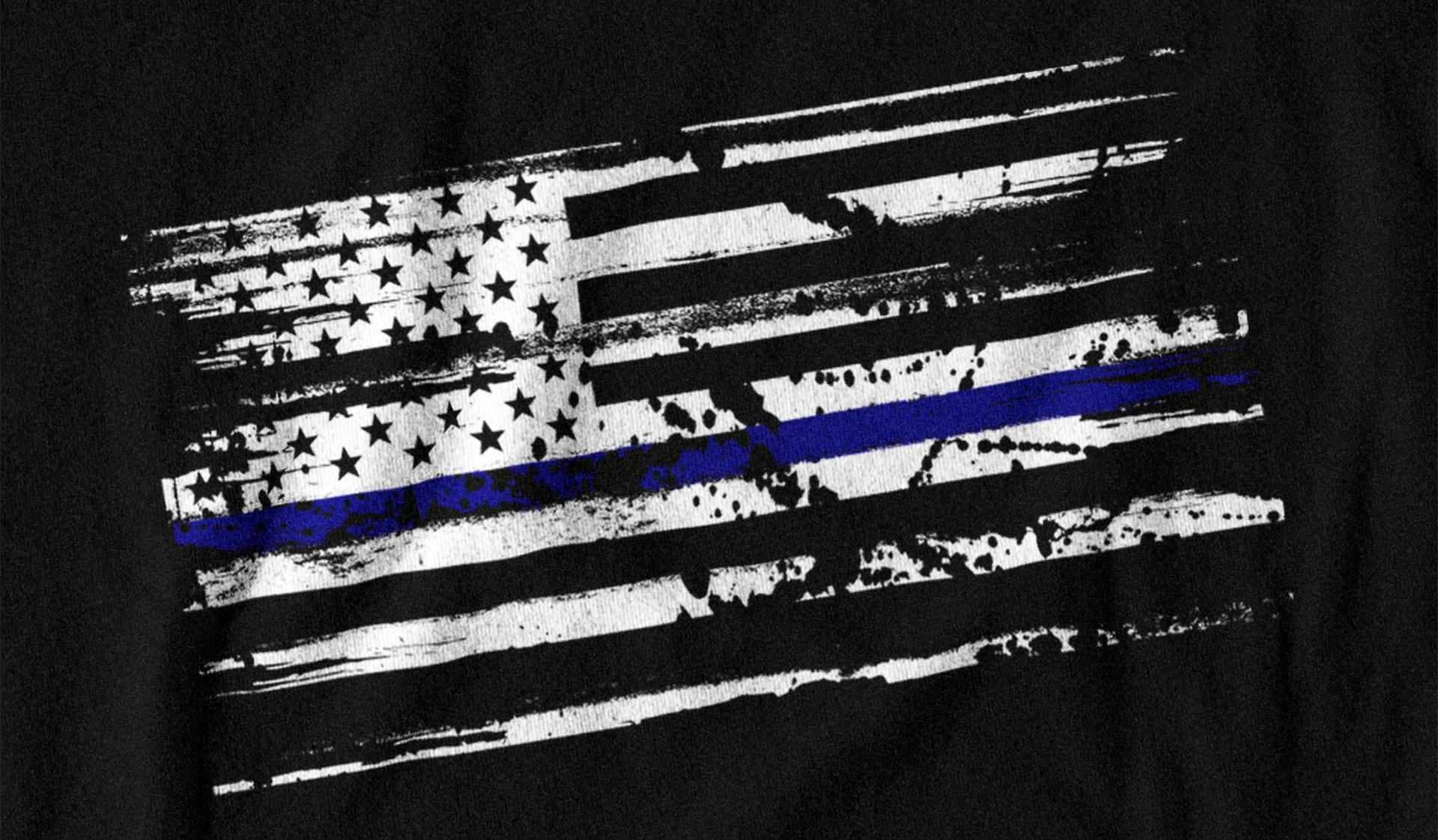 Police Flag HD Wallpaper