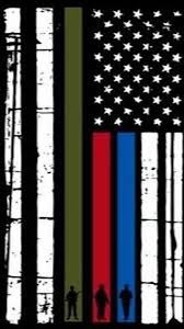 Police Flag Iphone Wallpaper 2