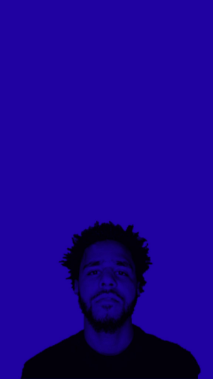 J Cole Blue Wallpaper